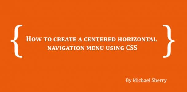 how to create menu in html using css