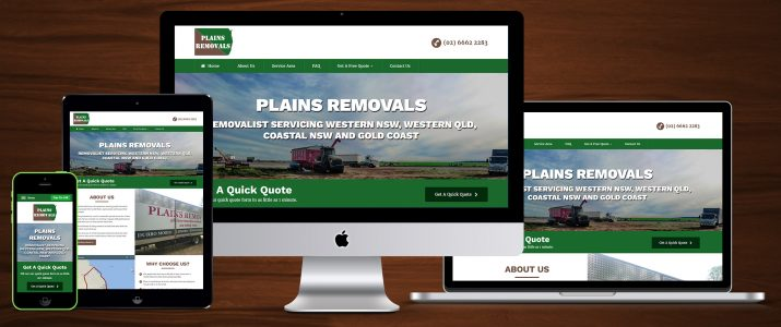 Plains Removals responsive showcase